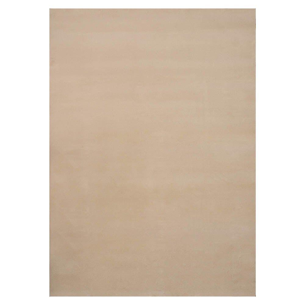 Plush Naturals 5 Ft. X 7 Ft. Bound Carpet Remnant-SPN507