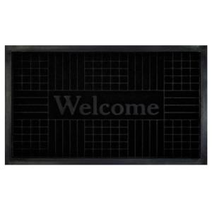 Achim Black 18 inch x 30 inch Geometric Door Mat by Achim