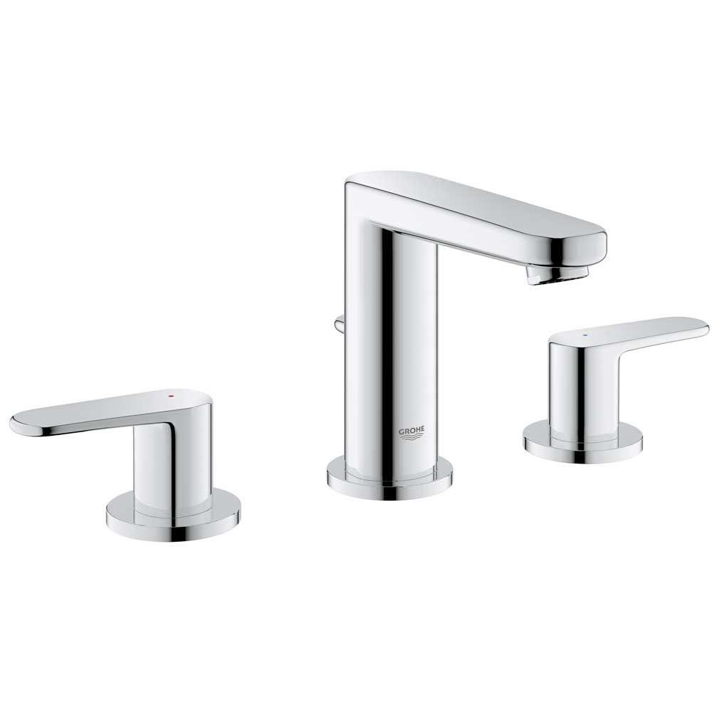 grohe bathroom sink faucets grohe europlus 8 in widespread 2 handle low arc bathroom 18628