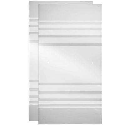 60 in. Sliding Bathtub Door Glass Panels in Transition (1-Pair)