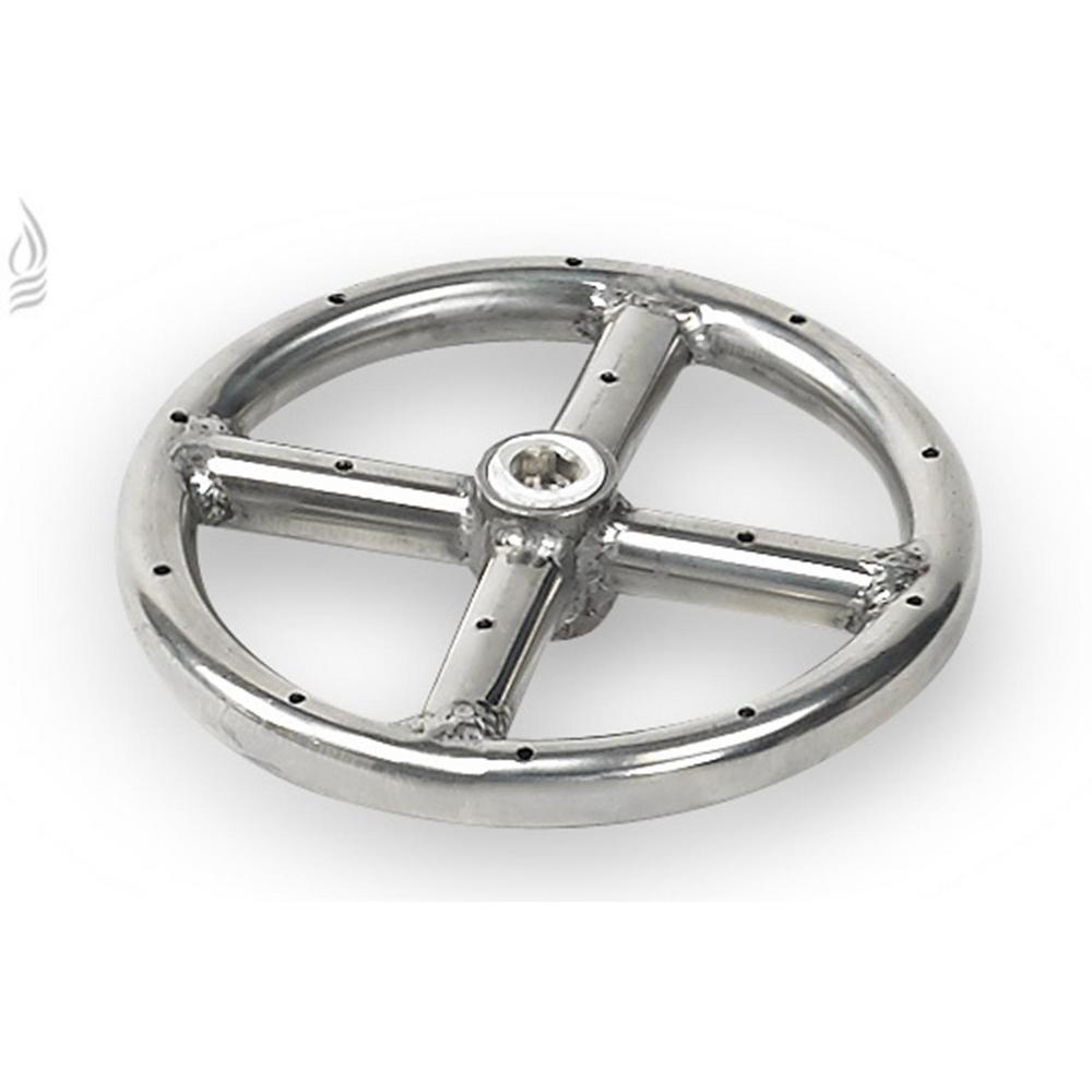 American Fire Glass 6 in. Single-Ring 304. Stainless Steel Fire Pit ...