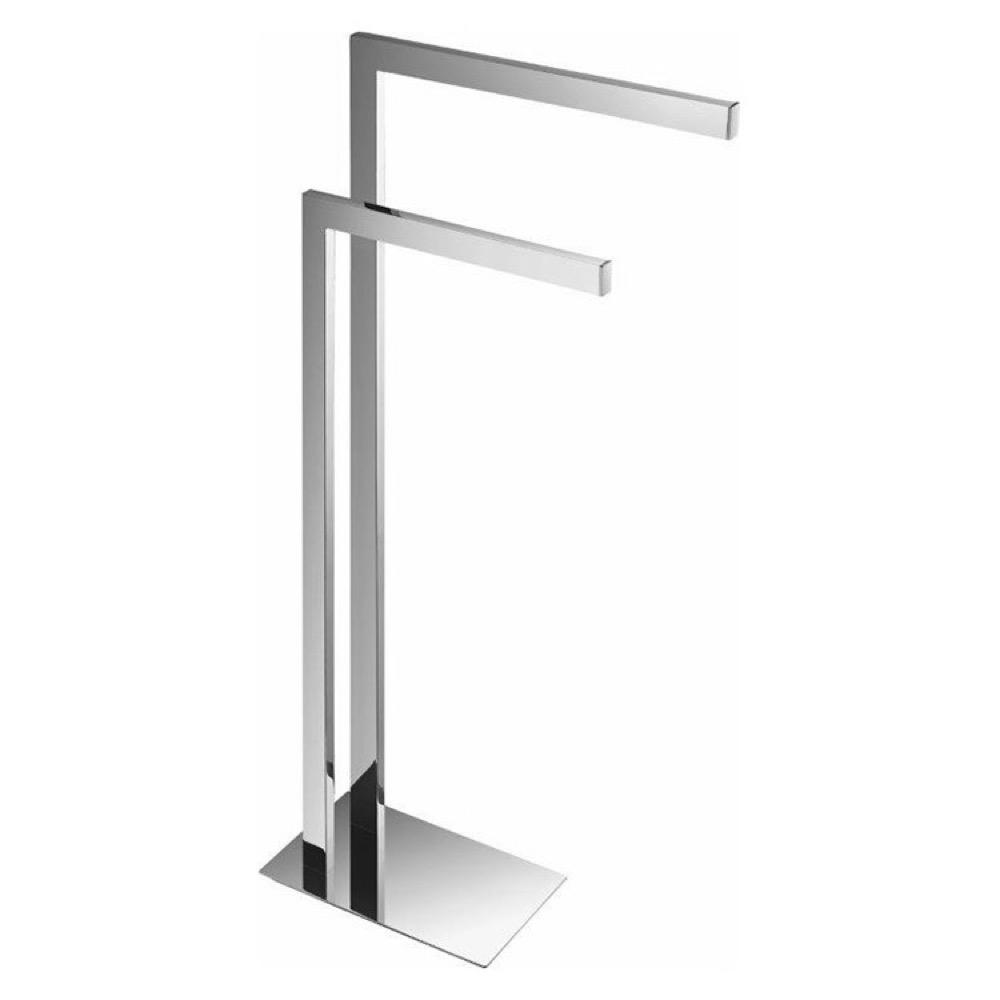 Nameeks General Hotel 2 Bars Floor Standing Towel Stand In Chrome