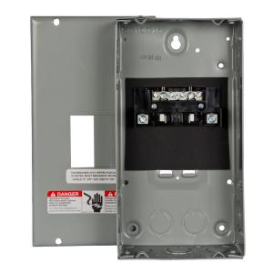 Square d homeline 100 amp 6 space 12 circuit indoor surface mount 60 amp 2 space 4 circuit main lug surface mount load center greentooth Images