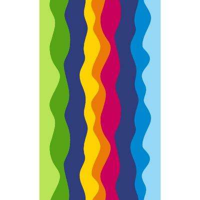 Rainbow Multi 4 ft. x 7 ft. Indoor Area Rug