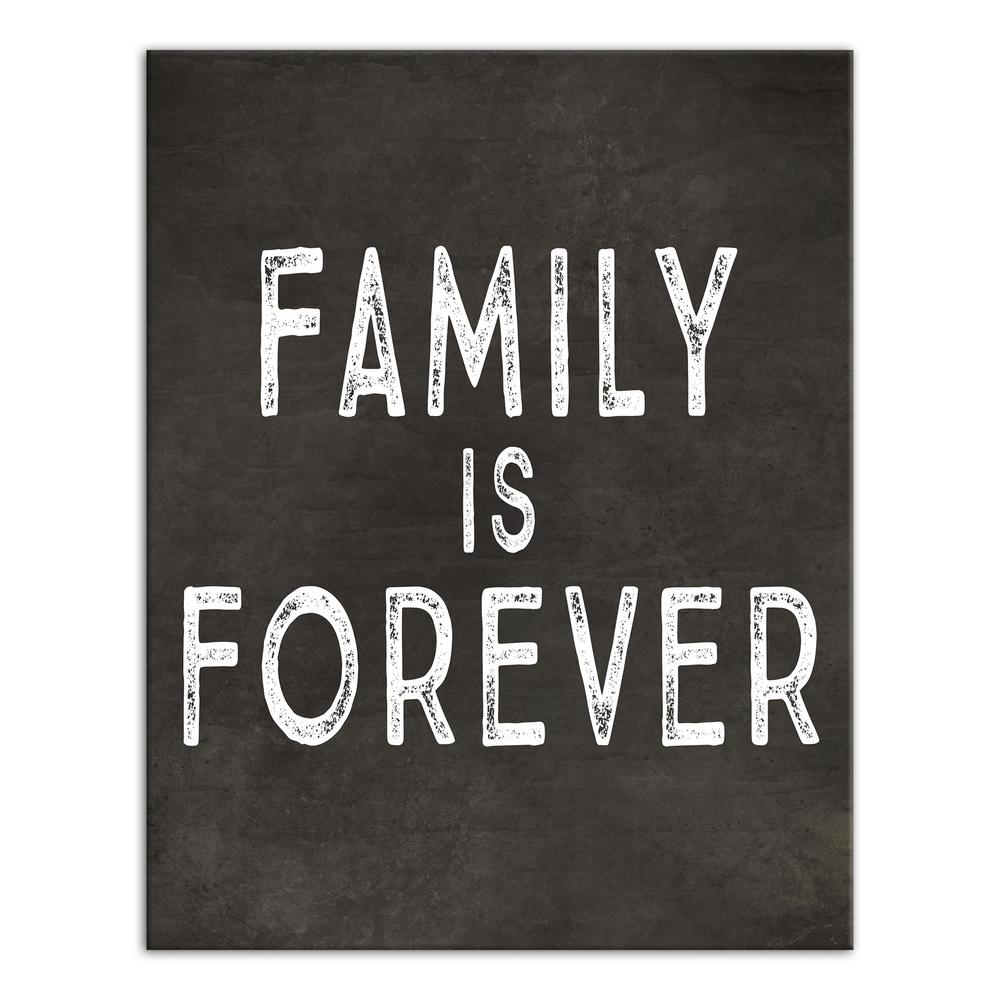 Designs Direct 14 In X 11 In Family Is Forever Printed Canvas