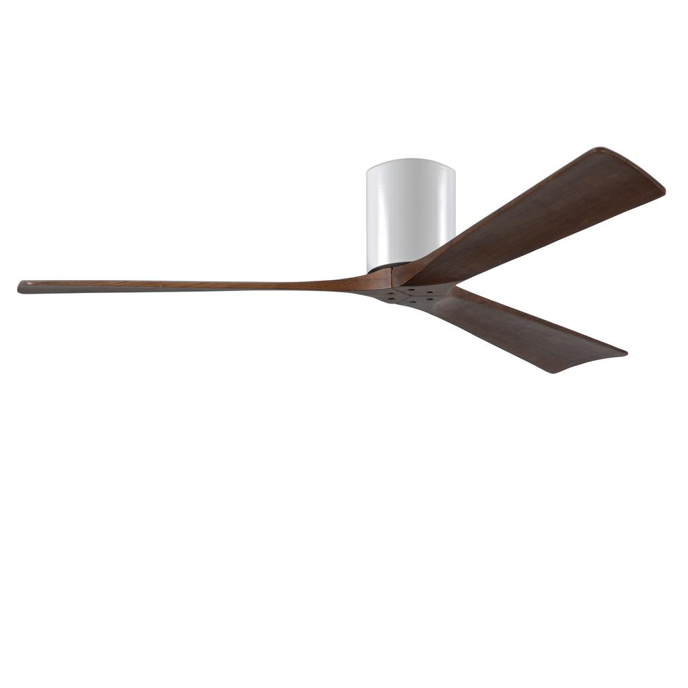 Atlas Irene 60 in. Indoor/Outdoor Gloss White Ceiling Fan with Remote Control and Wall Control