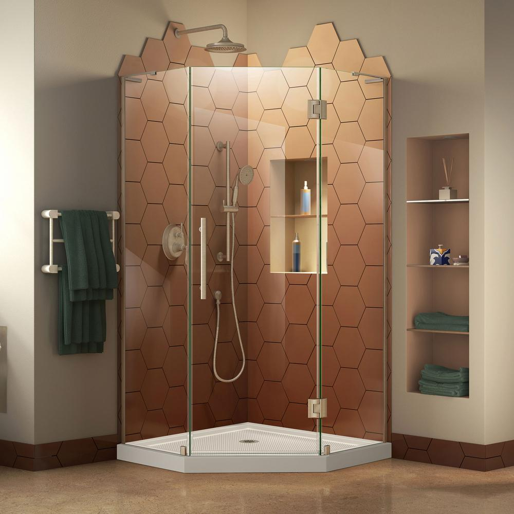 DreamLine Prism Plus 42 In. X 42 In. Frameless Hinged Neo Angle Shower