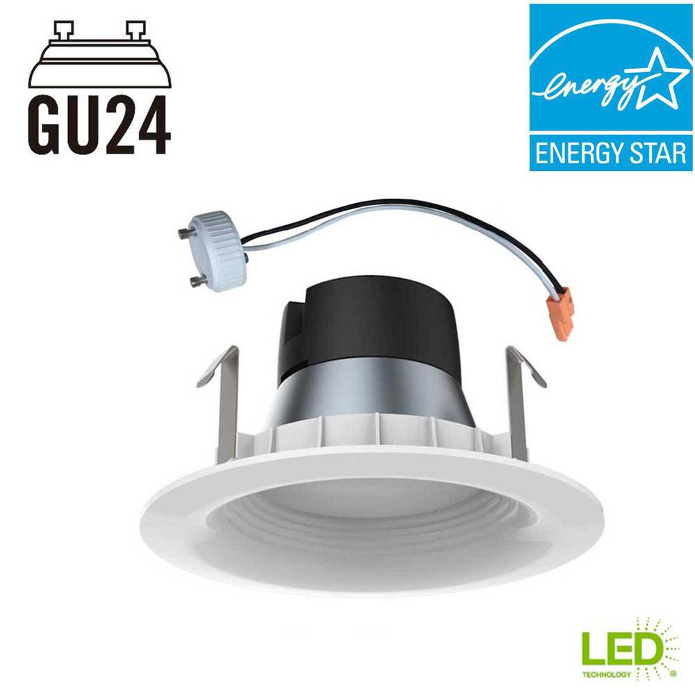 Ecosmart 4in White Integrated Led Recessed Trim