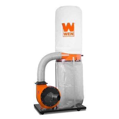 1500 CFM 16 Amp 5-Micron Woodworking Dust Collector with 50 Gal. Collection Bag and Mobile Base
