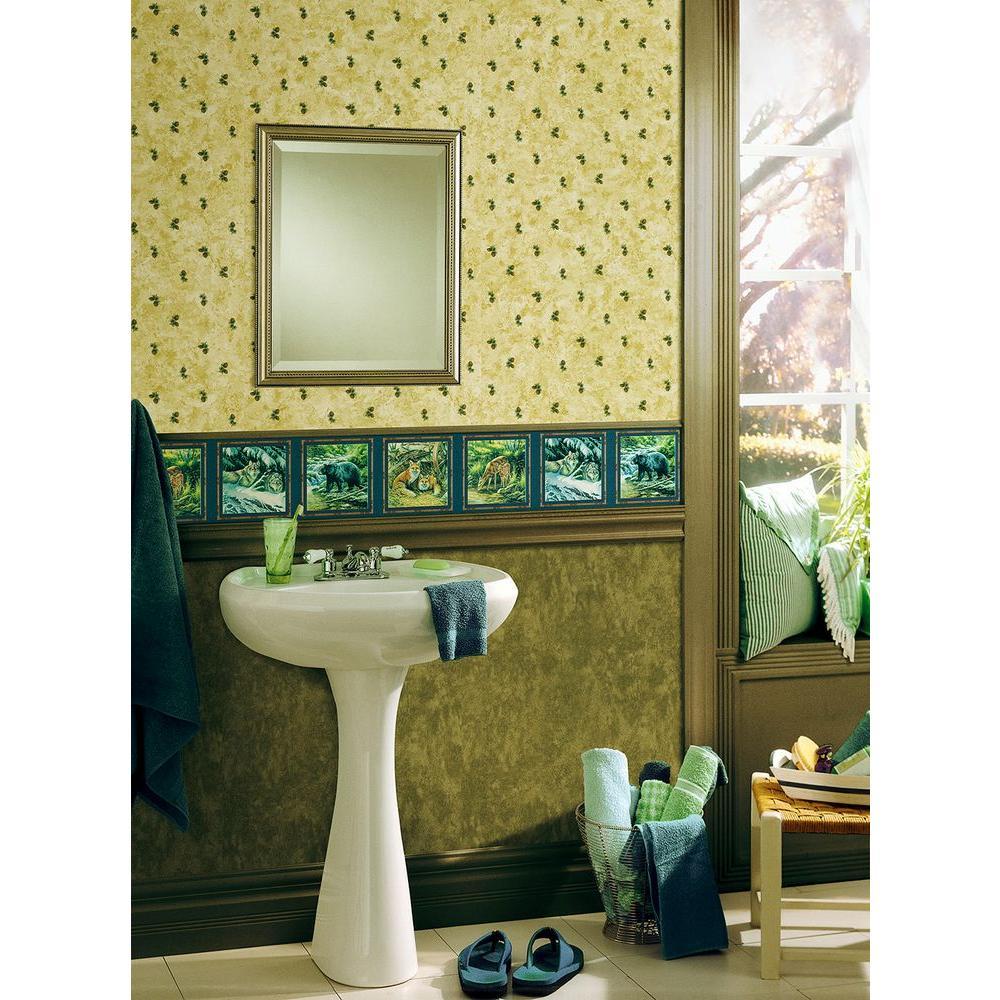 Northwoods Lodge Beige Pinecone Wallpaper Sample
