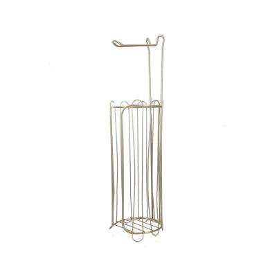 Freestanding Toilet Paper Holder in Satin Nickel