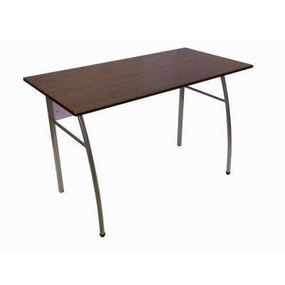 30 in. H x 47 in. W x 24 in. D Workstation with Woodgrain Top and Silver Tube Frame