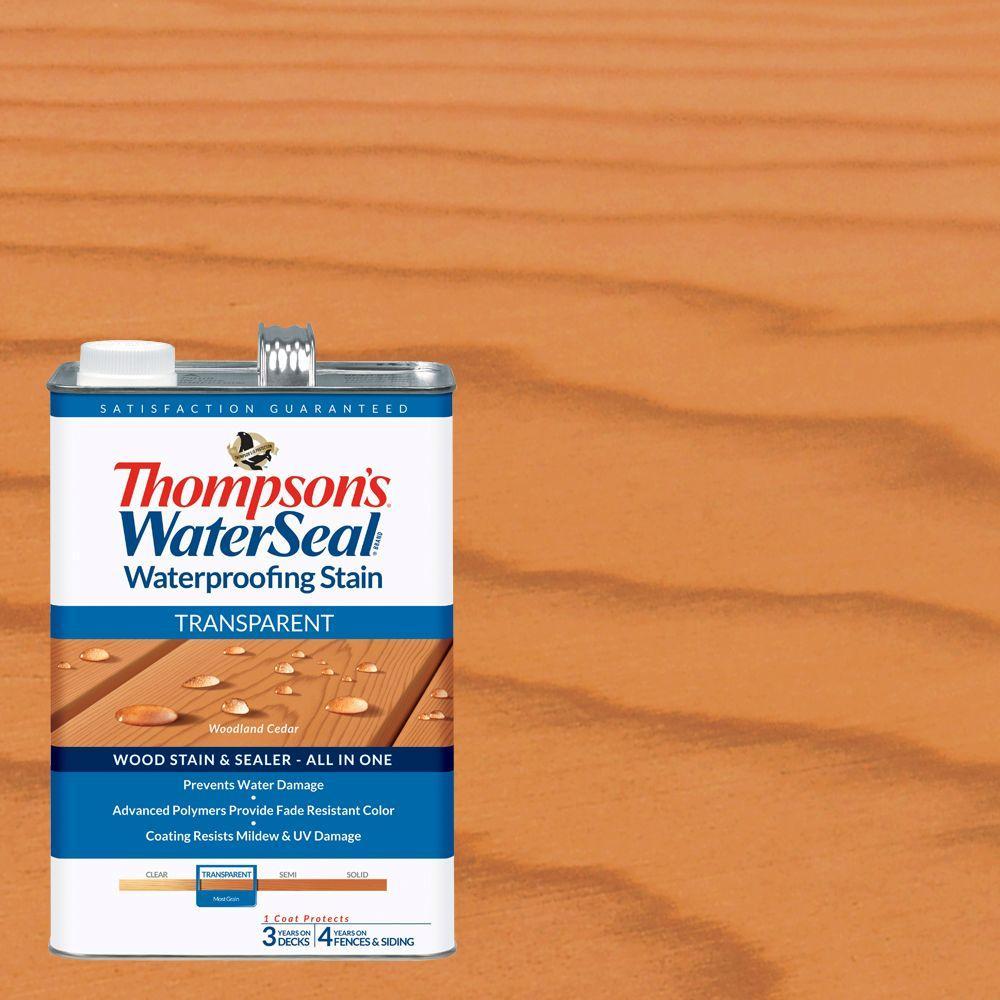 Thompson S Waterseal 1 Gal Transparent Woodland Cedar