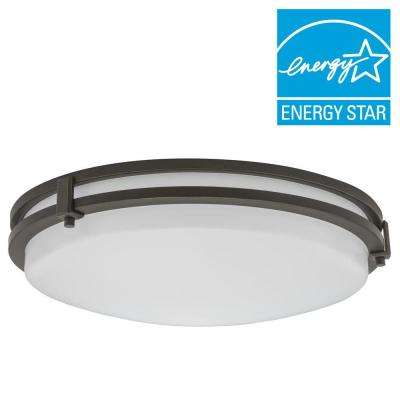Saturn 16-Watt Antique Bronze Integrated LED Flushmount
