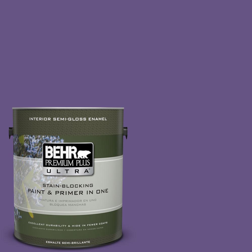 1-gal. #640B-7 Berry Jam Semi-Gloss Enamel Interior Paint