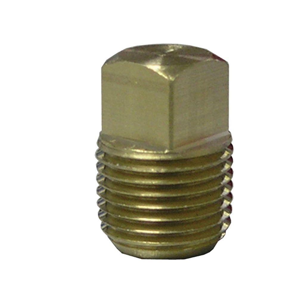 Lead-Free Brass Pipe Square Head Plug 1/2 in. MIP