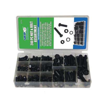 Grip Nut and Bolt Assortment - 240 pc