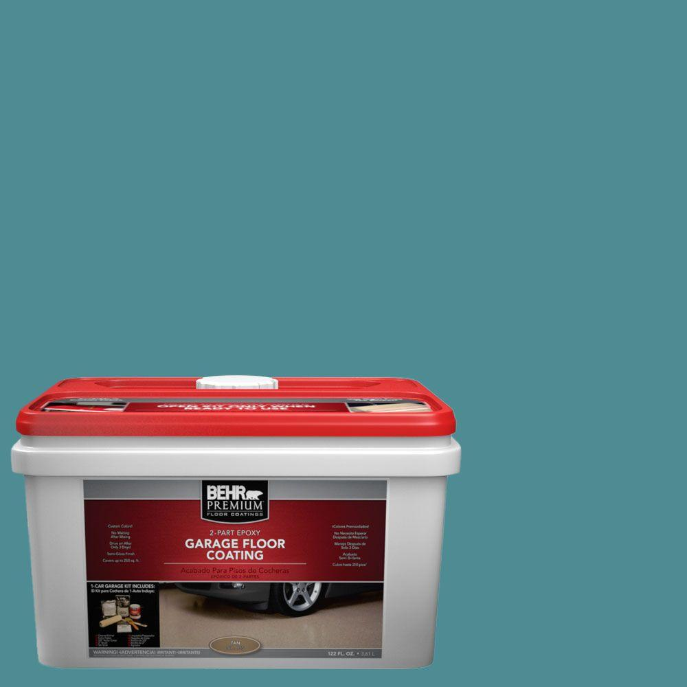 BEHR Premium 1-gal. #PFC-49 Heritage Teal 2-Part Epoxy Garage Floor Coating Kit