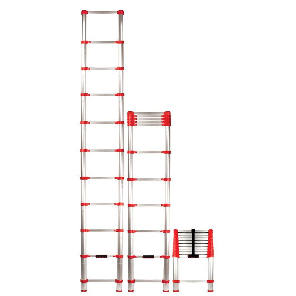 Xtend and Climb Xtend and Climb 10.5 ft. Aluminum Telescoping Extension Ladder with 250 lbs. Load Capacity Type 1 Duty Rating