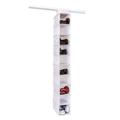 6 in. x 12 in. x 46 in. 10 Shelf Shoe Organizer in Ikat