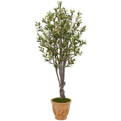 Indoor Olive Artificial Tree in Terracotta Planter