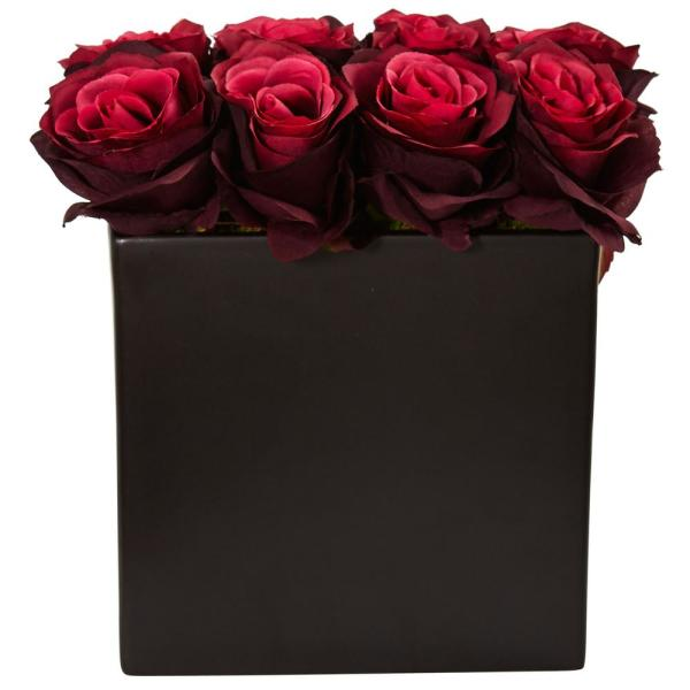Nearly Natural Roses Silk Arrangement
