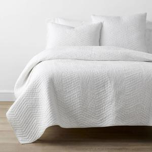 Company Cotton White Solid King Quilt