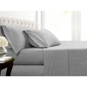 MHF Home Cotton Blend Grey Jersey Pillowcases (2-Pack)