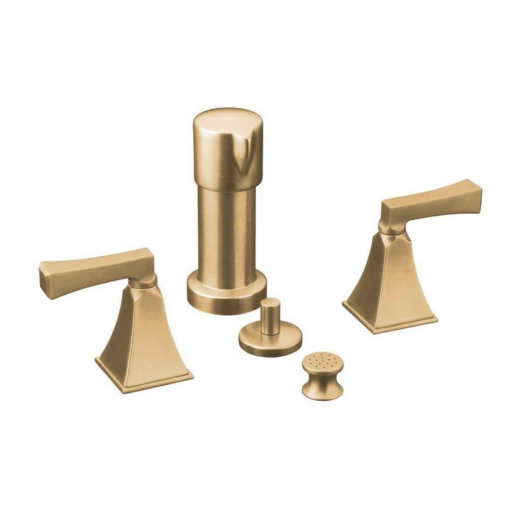 Memoirs 2-Handle Bidet Faucet in Vibrant Brushed Bronze with Stately Design