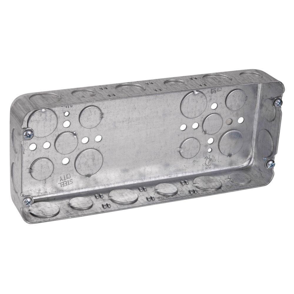 4-Gang 70 cu. in. Pre-Galvanized Steel Box (5-Case)
