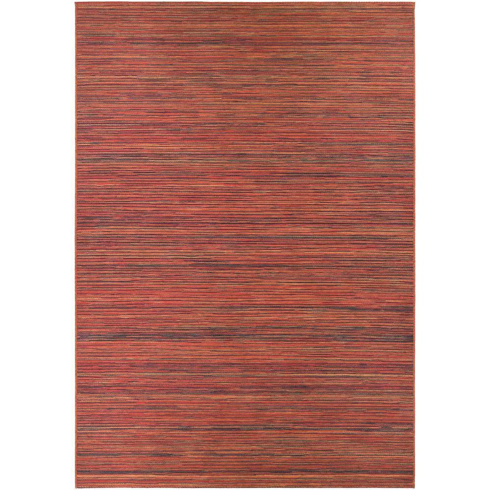 Cape Hinsdale Crimson-Multi 8 ft. x 11 ft. Indoor/Outdoor Area Rug