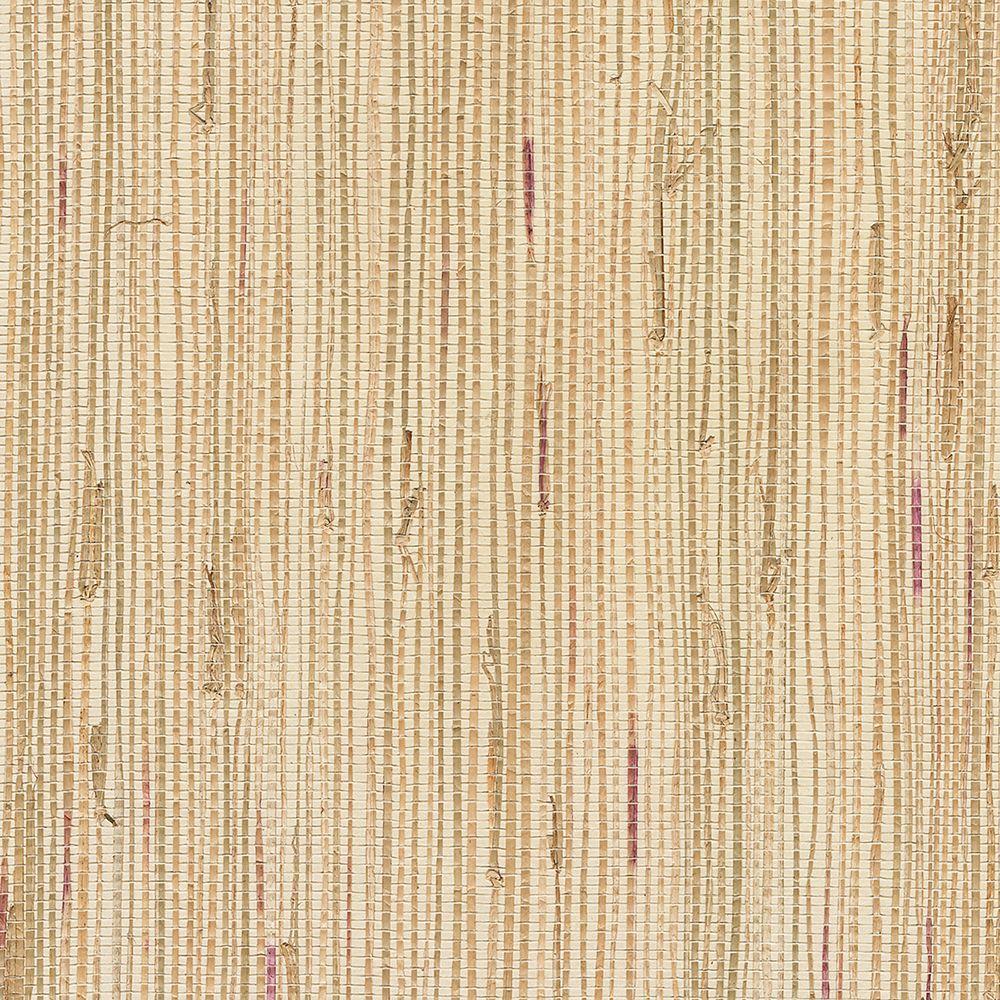 Green Grasscloth Wallpaper: Kenneth James Gisei Green Grasscloth Wallpaper-2693-54729