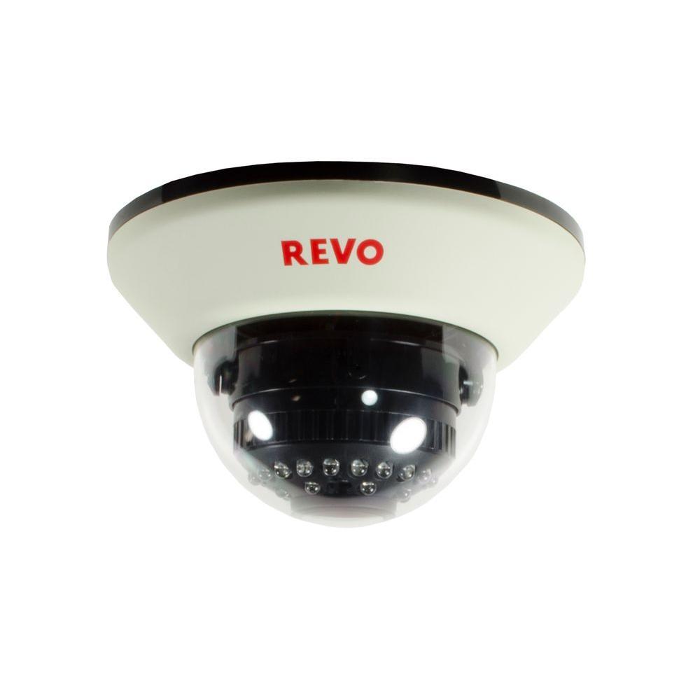 Revo 1200 TVL Indoor Dome Surveillance Camera with 100 ft. Night Vision