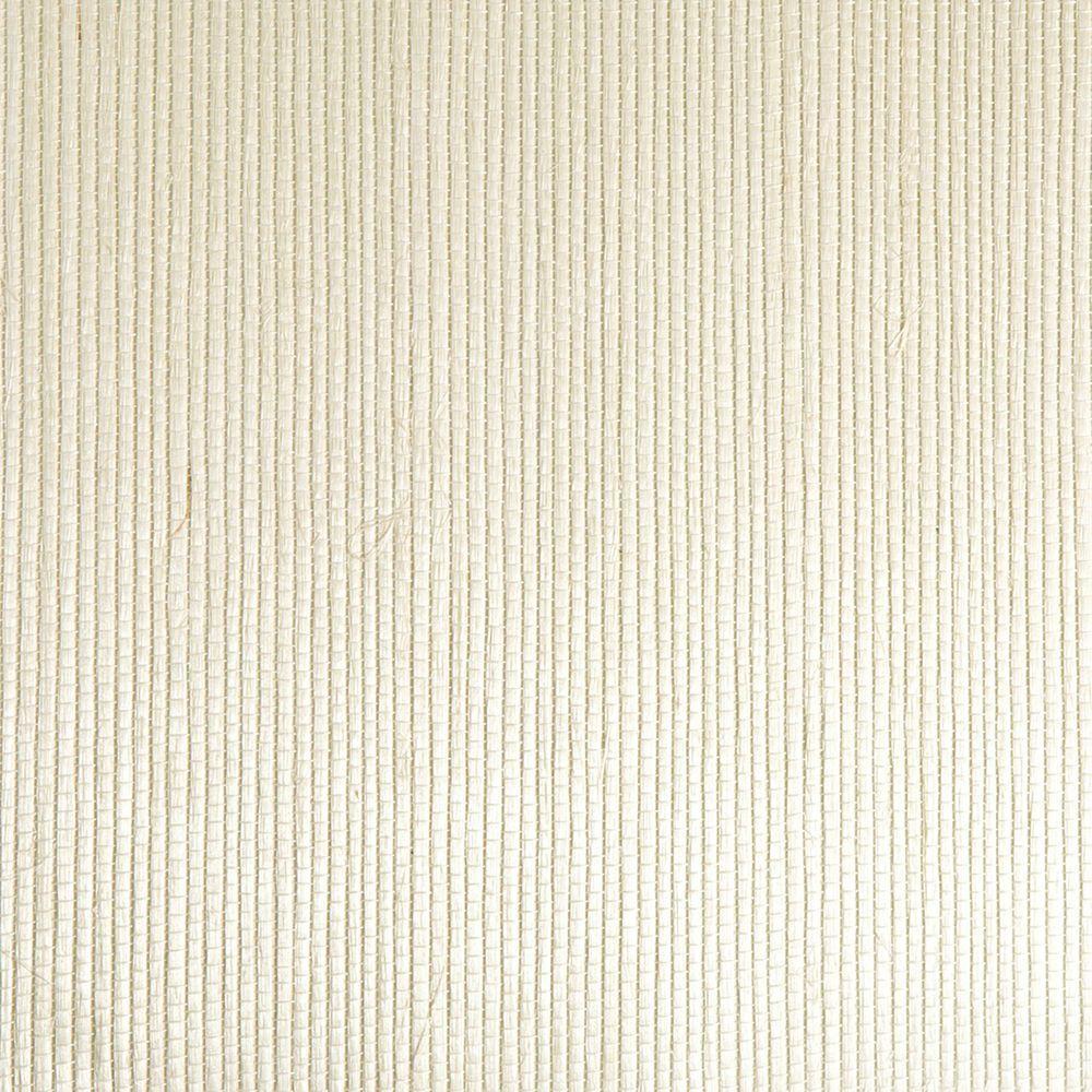 Kenneth James Martina White Grasscloth Wallpaper Sample