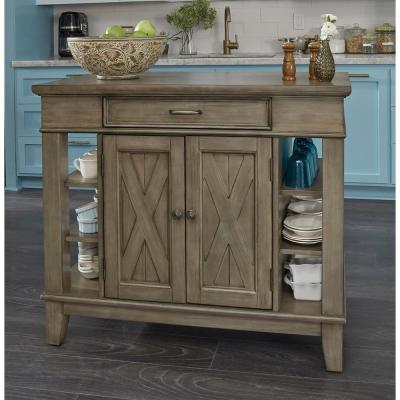 Mountain Lodge Gray Kitchen Island