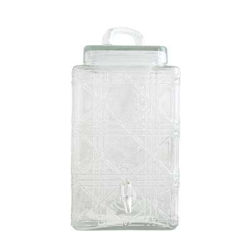 Jewelite 320 oz. Clear Glass Drink Dispenser with Silver Spigot