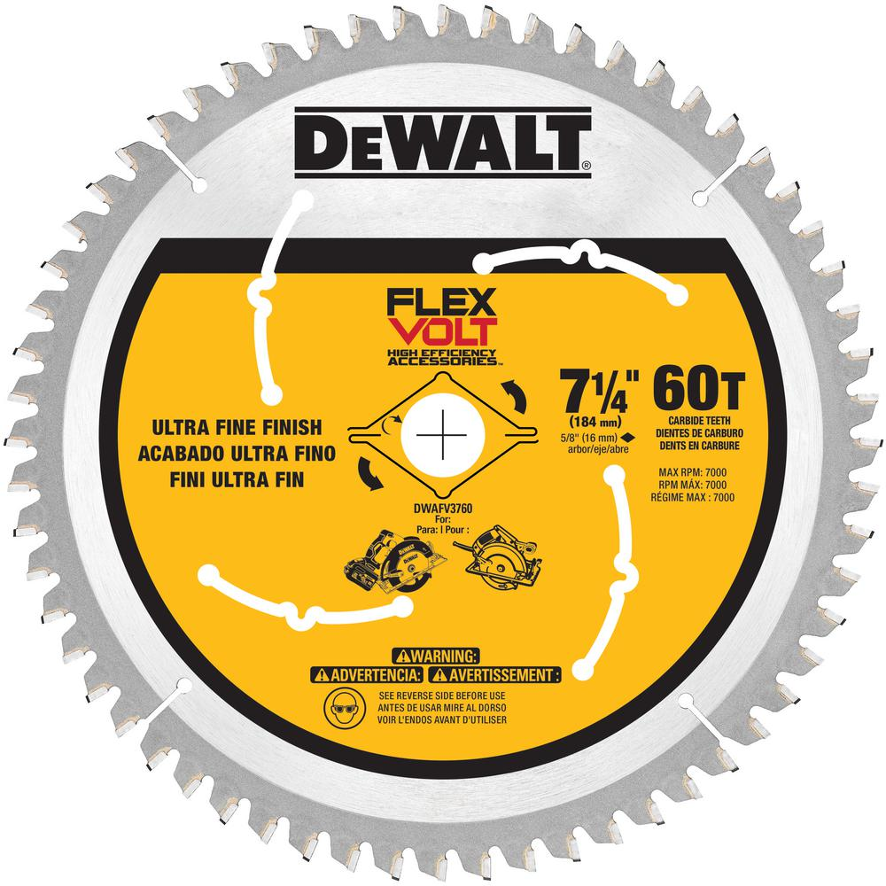 FLEXVOLT 7-1/4 in. 60 Teeth Circular Saw Blade