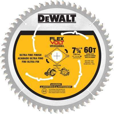 FLEXVOLT 7-1/4 in. 60-Teeth Carbide-Tipped Circular Saw Blade