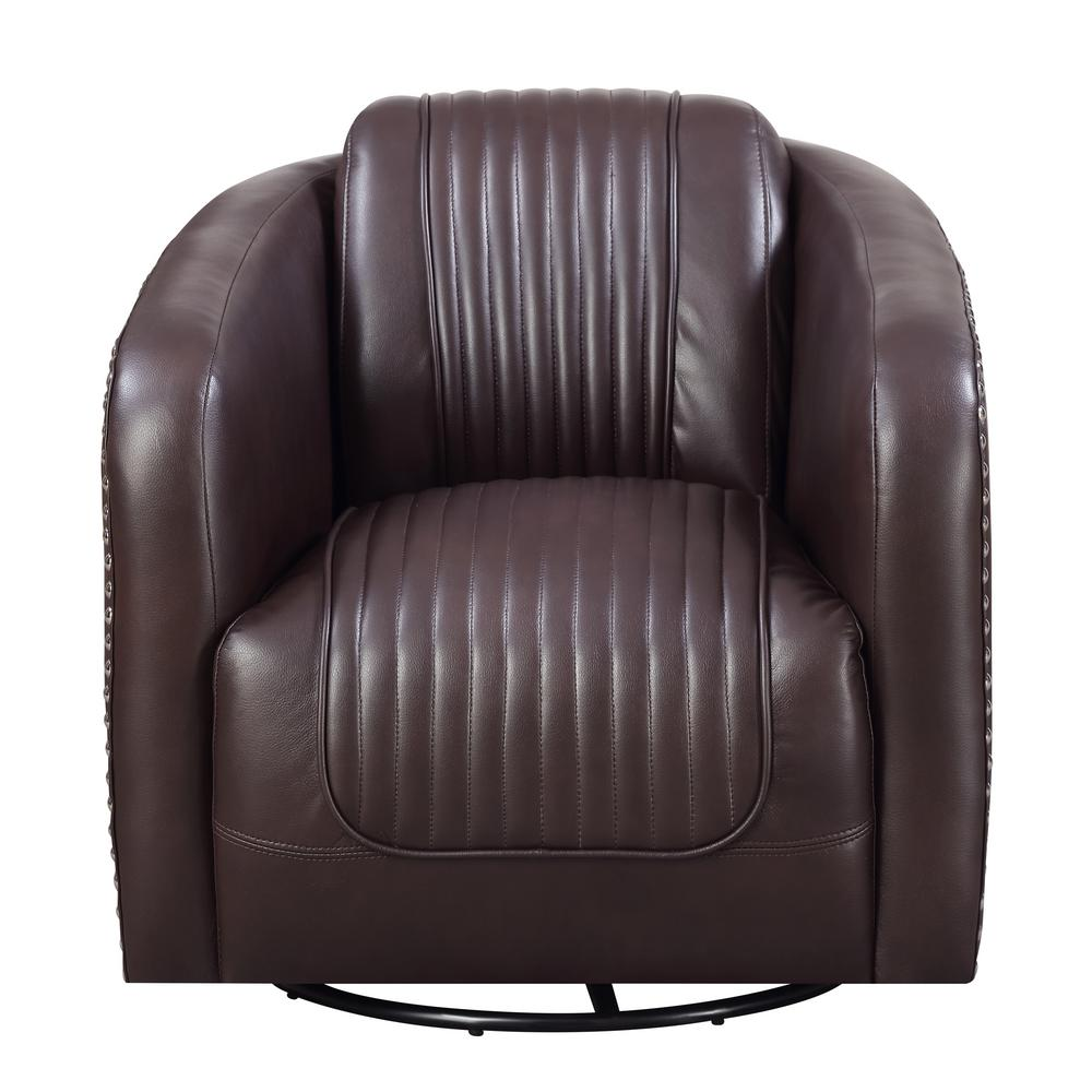 Attrayant Lex Chocolate Swivel Accent Chair