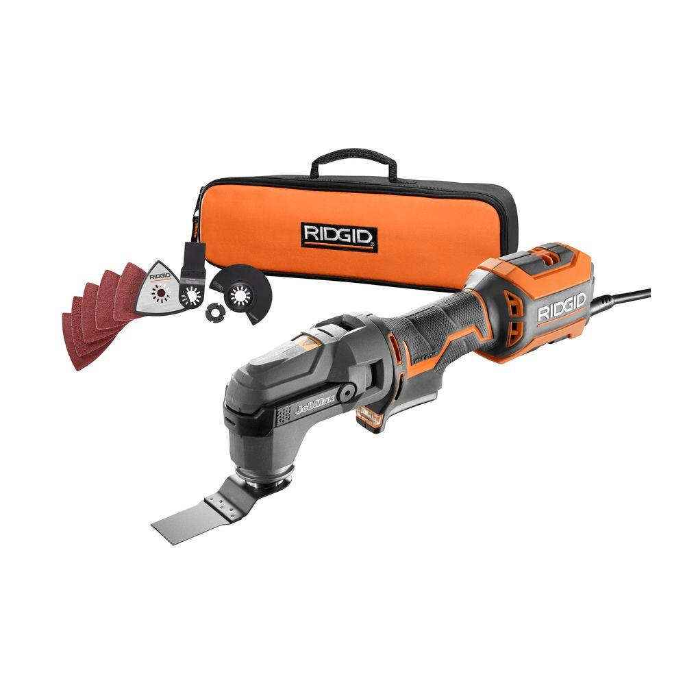 ridgid jobmax 4 amp multi tool with tool free head r28602 the home