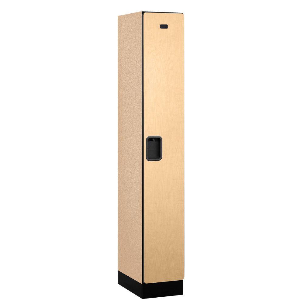 Salsbury Industries 31000 Series 12 in. W x 76 in. H x 18 in. D Single Tier Designer Wood Locker in Maple