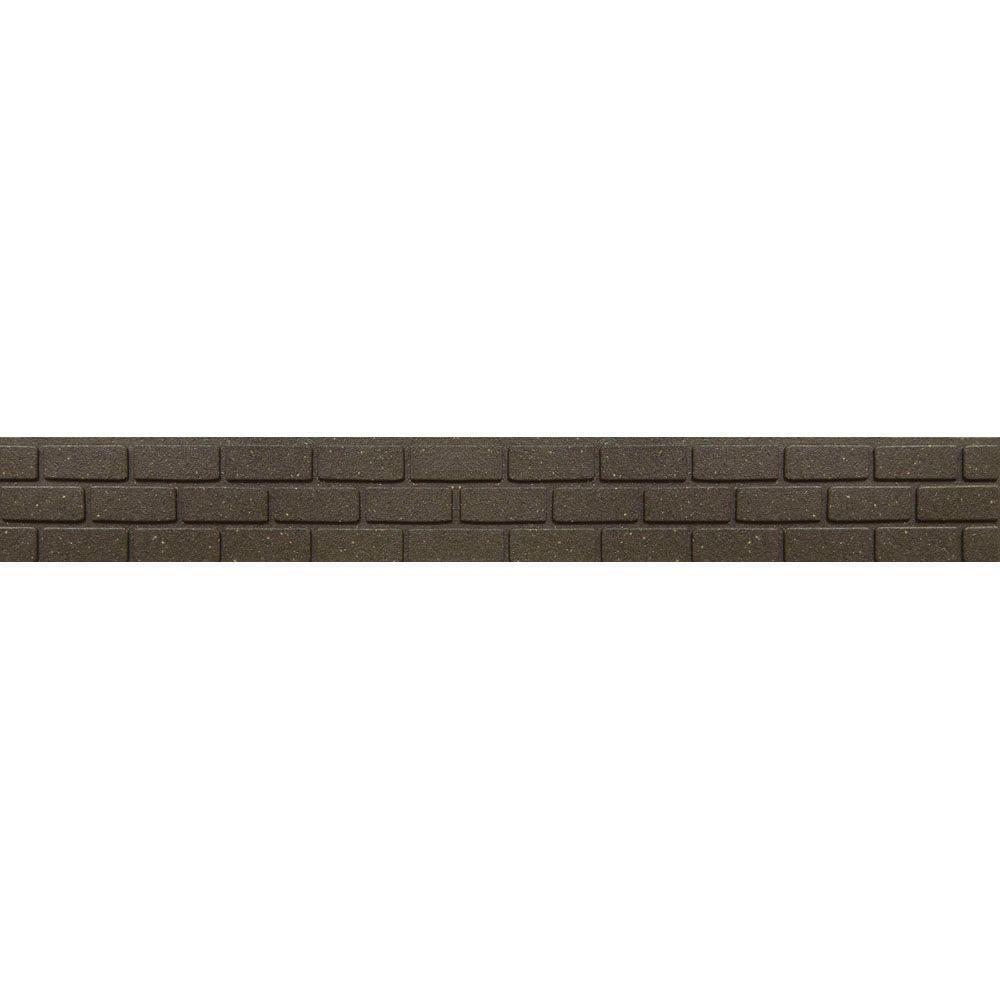 Multy Home EZ Border Bricks 4 ft. Earth Rubber Garden Edging (6-Pack)
