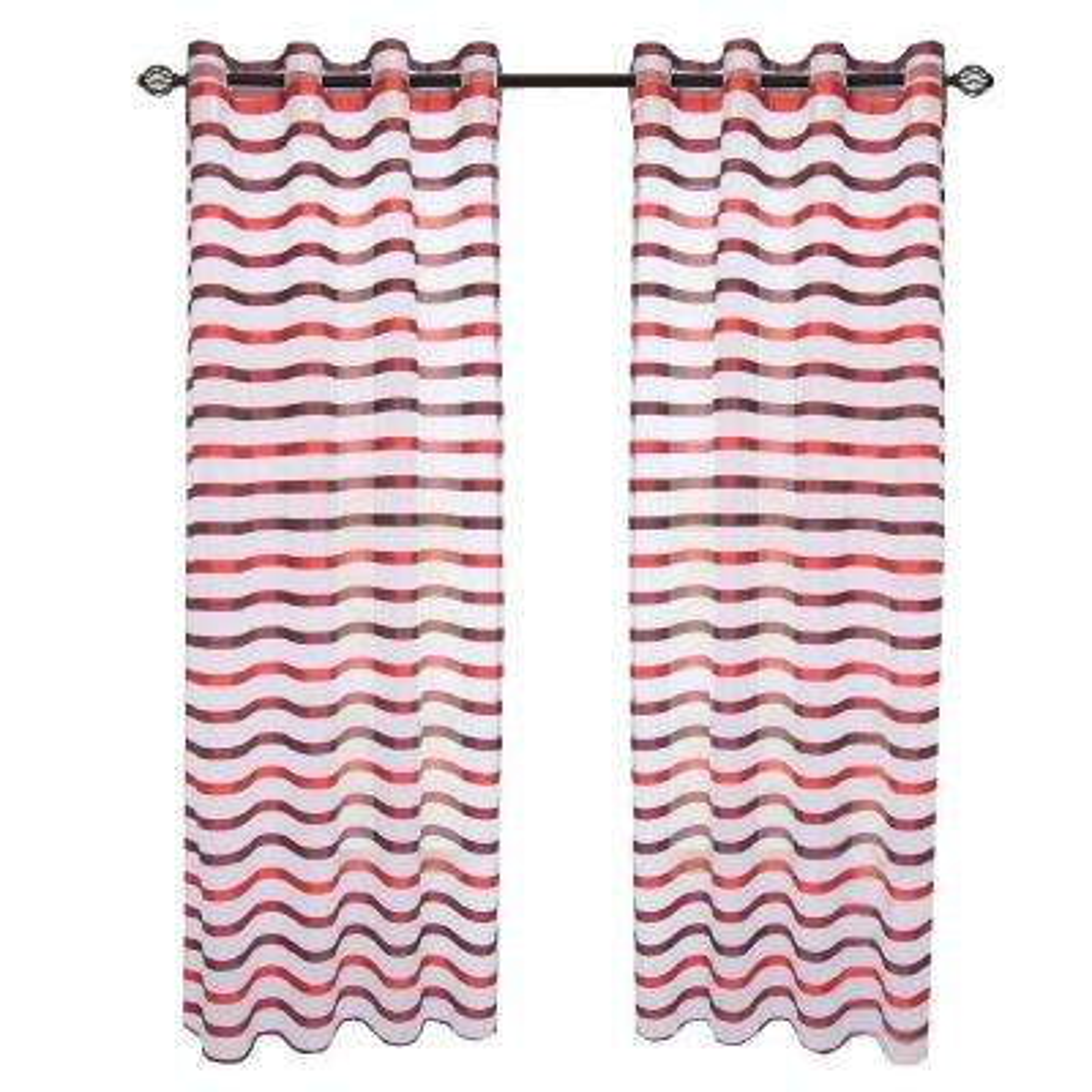 Wine/Red Sonya Grommet Curtain Panel, 84 in. Length