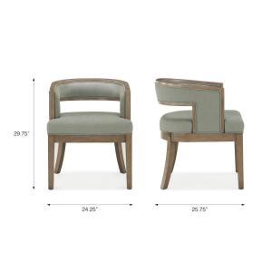 Excellent Dorel Living Brunswick Sage Gray Walnut Rounded Back Accent Pdpeps Interior Chair Design Pdpepsorg