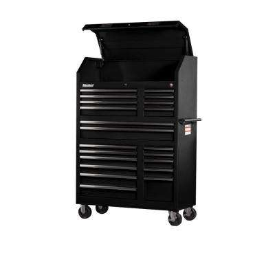 Tech Series 42 in. 20-Drawer Tool Tower in Black