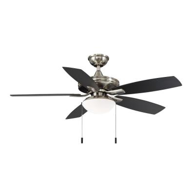 Gazebo III 52 in. Brushed Nickel LED Indoor/Outdoor Ceiling Fan with Light Kit