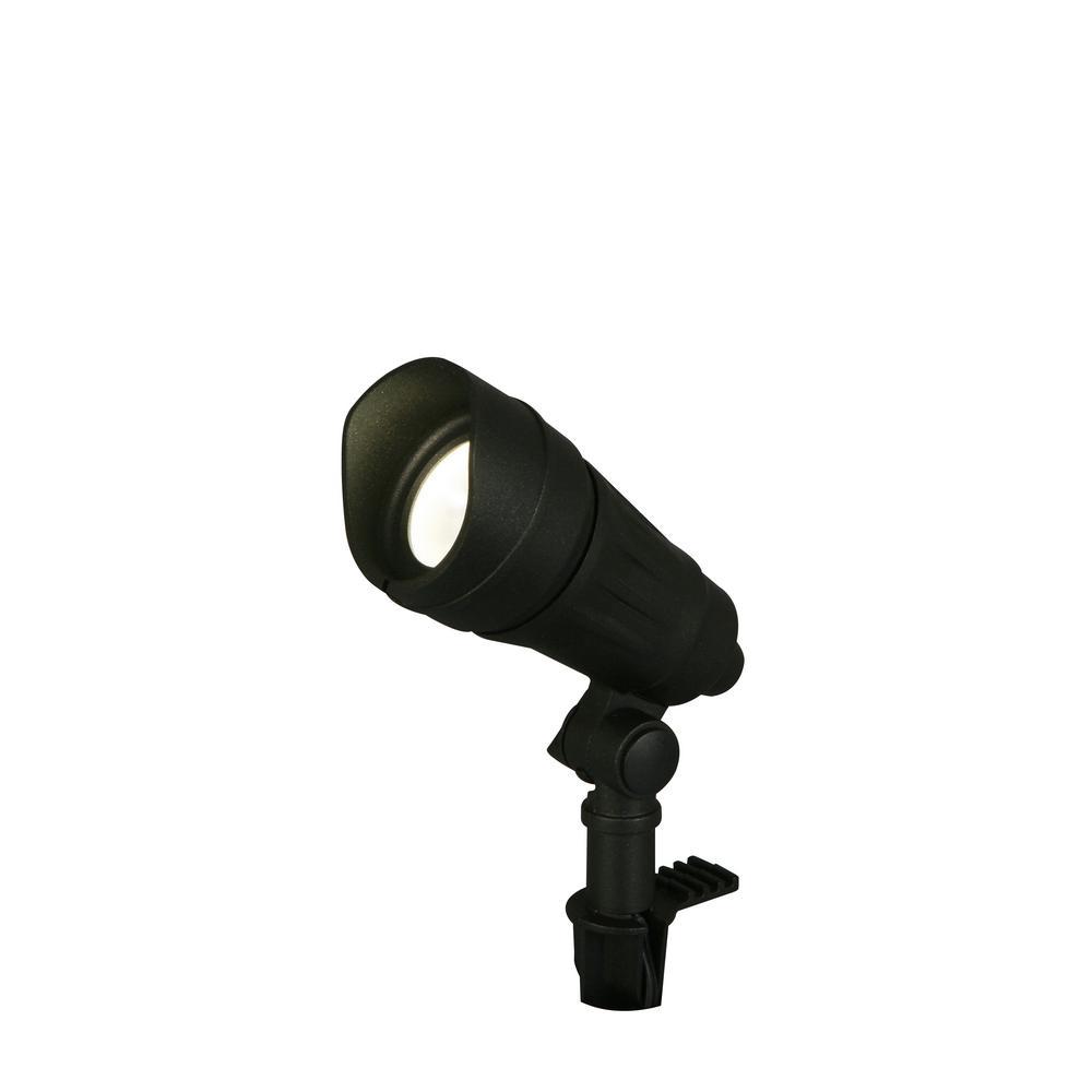 hamptonbay Hampton Bay 9.8-Watt Millennium Black Adjustable Light Color Outdoor Integrated LED Landscape Spot Light