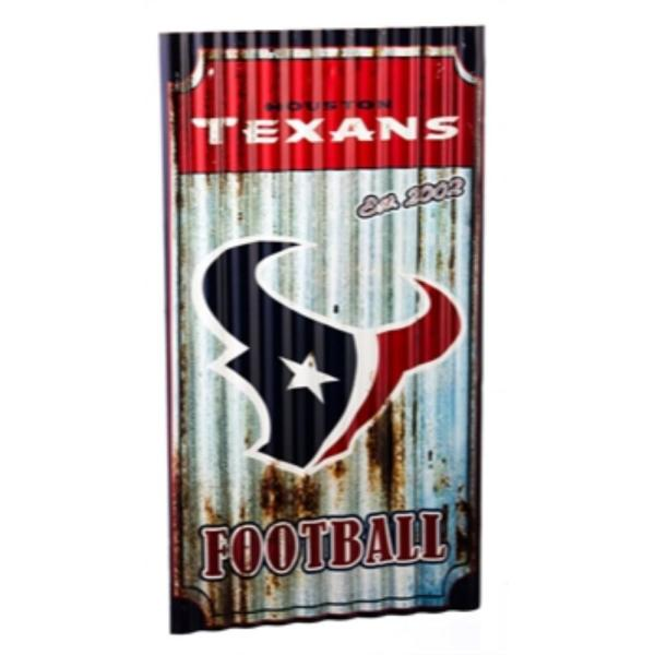 6a7b71dcc22a4f Team Sports America Houston Texans NFL Corrugated Metal Indoor/Outdoor Wall  Art 6M3812 - The Home Depot