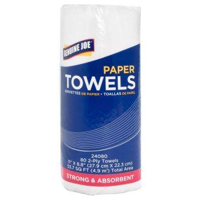 Household Roll Paper Towels 2-Ply (80 Sheets per Roll)