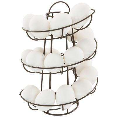 Brown Egg Skelter Deluxe Modern Spiraling Dispenser Rack